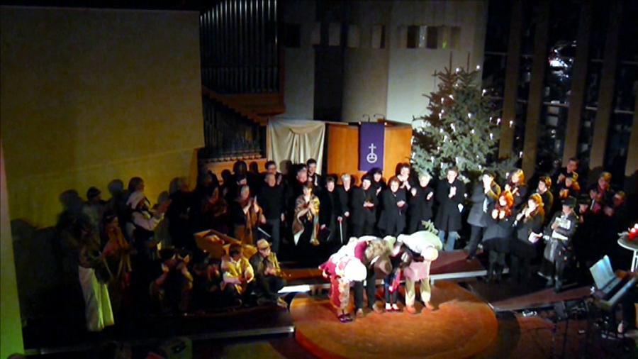 2014 mit Kantorei über 50 Mitwirkende