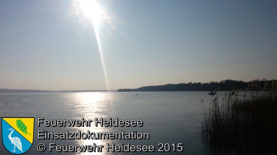 Einsatz 23/2015 Schwan in Not Wolziger See 15.02.2015