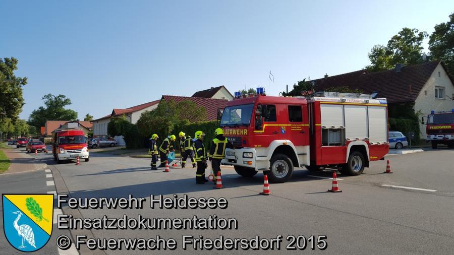 Einsatz 119 VU PKW - Krad - LKW Friedersdorf Lindenstraße 21.07.2015
