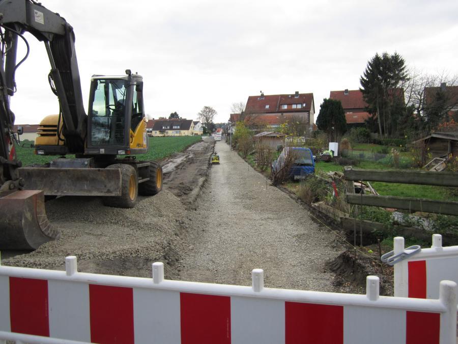 Foto: Erneuerung der Kanalisation der Poststraße an der Einmündung der Straße An der Glashütte bis zur sera-Straße