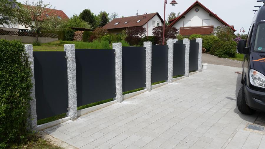 Grundstuecksbegrenzung - Kanzach