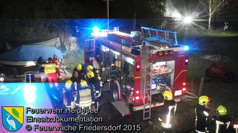 Einsatz 90/2015 Bungalowbrand Bindow Brück 11.05.2015