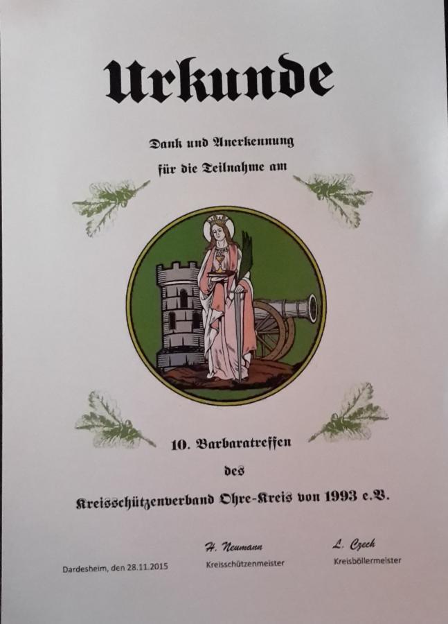 Urkunde Barbaratreffen