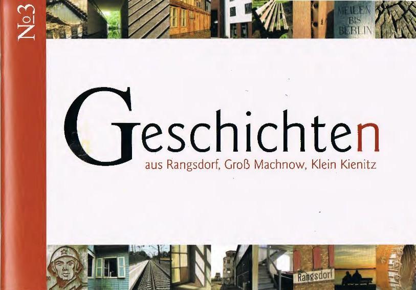 © Foto: Titelseite der Broschüre Geschichten aus Rangsdorf, Groß Machnow, Klein Kienitz Nr. 3 1. Auflage 2015