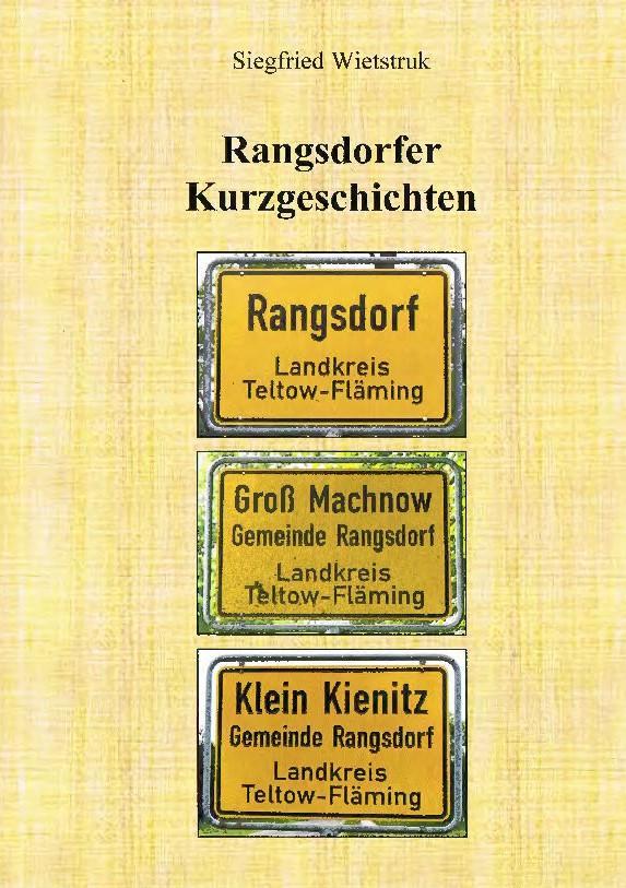 © Foto: Titelseite des Buches Rangsdorfer Kurzgeschichten 1. Auflage 2015