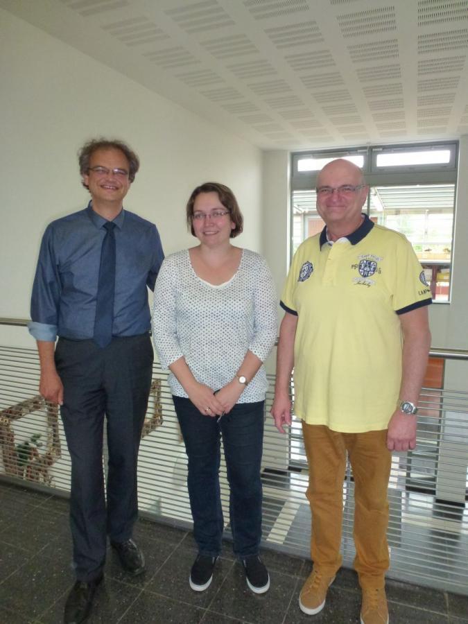 Vorstand des Fördervereins v.l.n.r. Herr Melters, Frau Neitzel, Herr Eckert