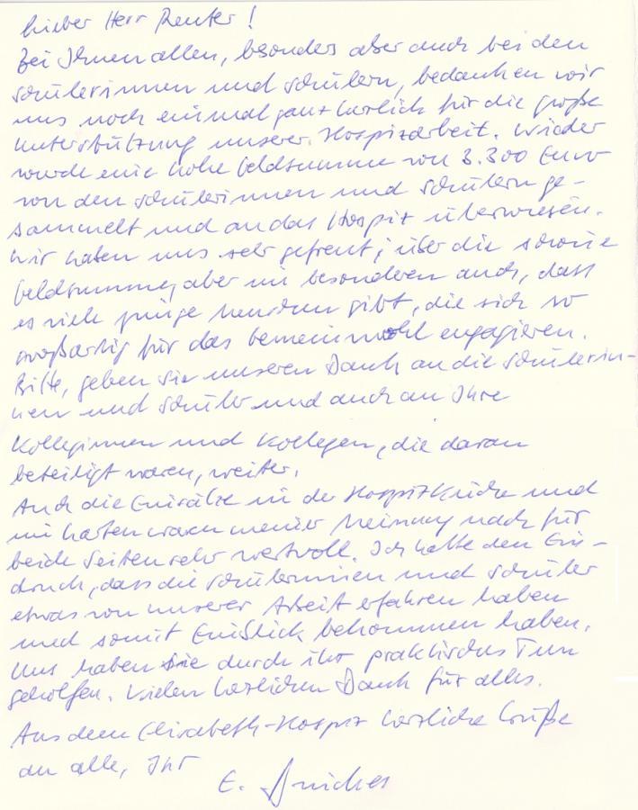 Brief von Herrn Drückes
