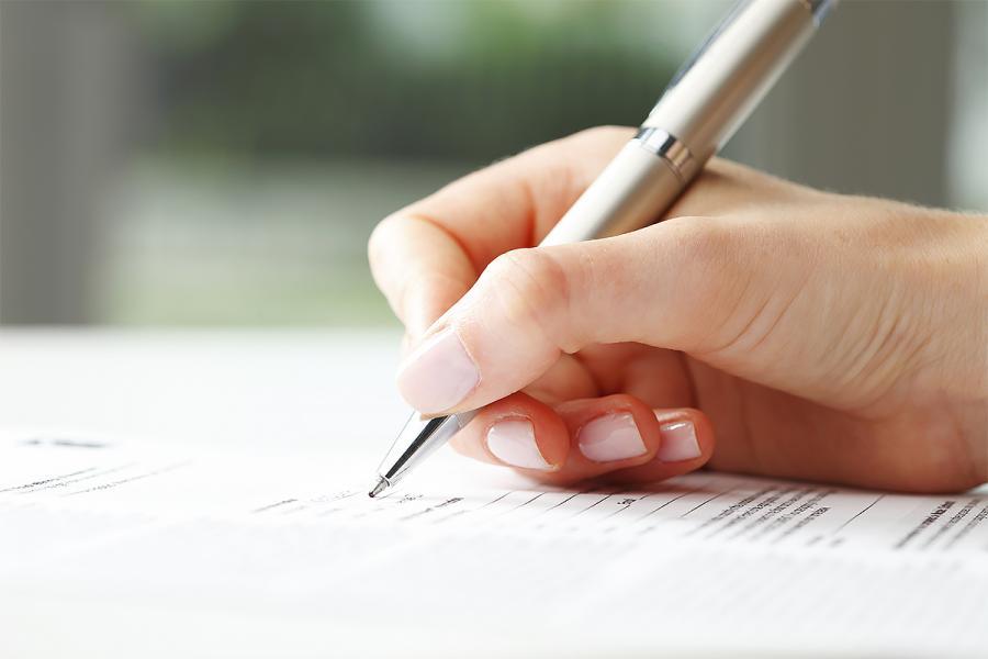 Unterschrift Antrag