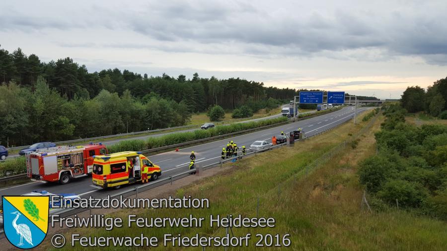 Einsatz 72/2016 | VU 3x PKW | BAB 12 AD Spreeau 14.07.2016