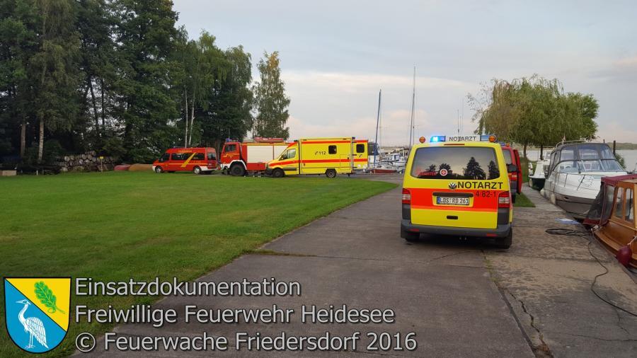 Einsatz 78/2016 | Personenrettung vom Wolziger See | 27.07.2016