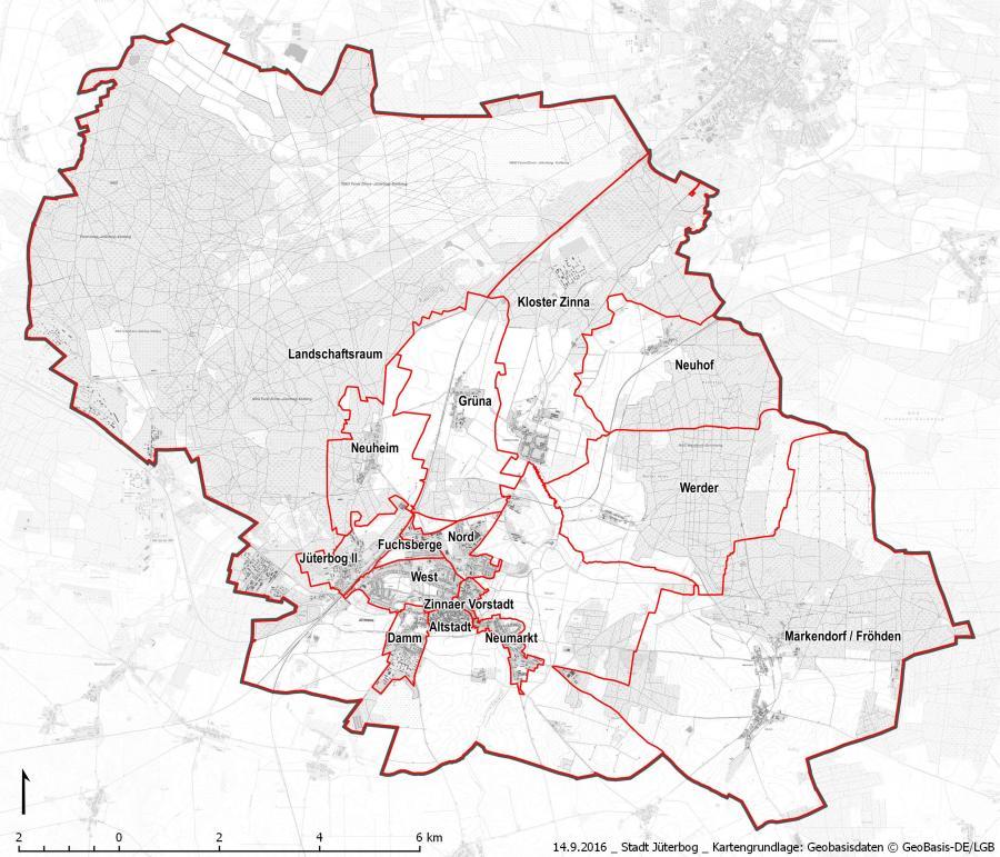 INSEK Stadt- und Ortsteilgliederung