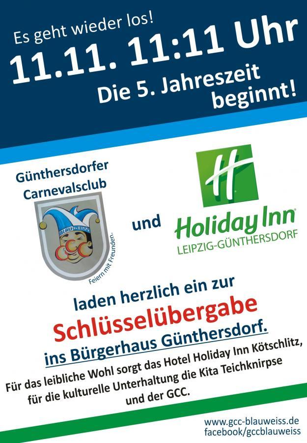 Schlüsselübergabe im Bürgerhaus Günthersdorf mit dem GCC und dem Hotel Holiday Inn