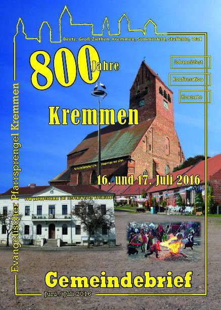 Gemeindebrief Juni / Juli 2016