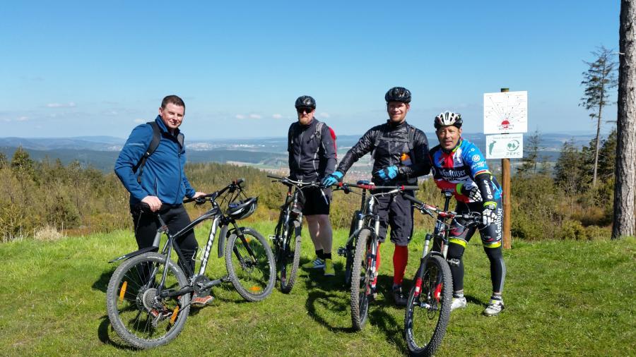 Mountainbiker auf dem Langen Berg