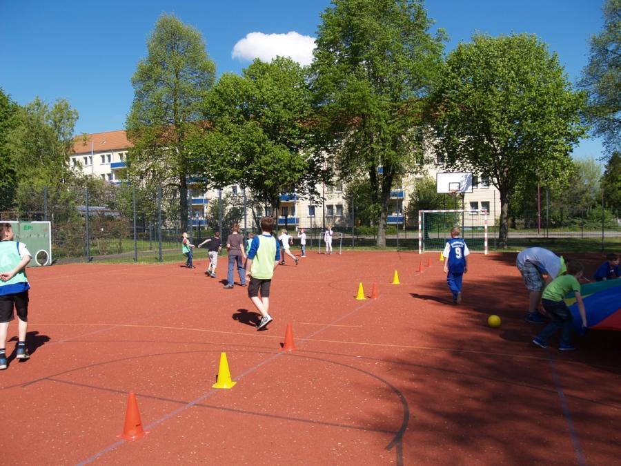 Sportplatz beim Europatag