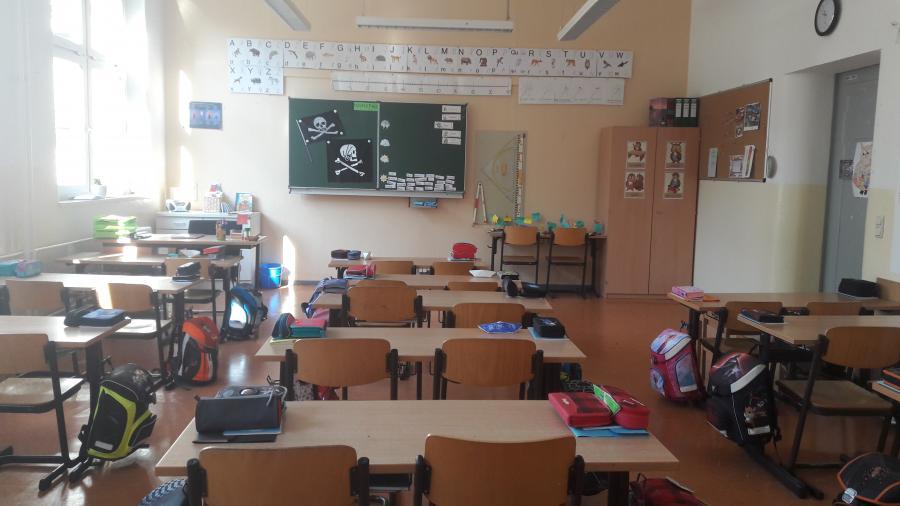 Das ist unser Klassenraum