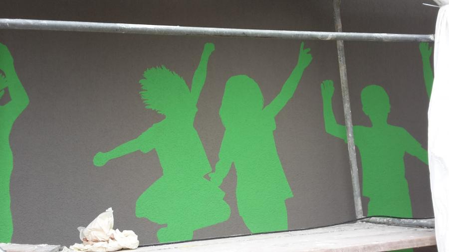 Kinder in grün - Symbol für alle Kinder der Welt