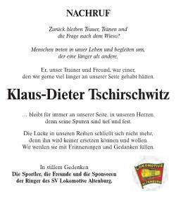 20161210_Kurier_Ringen Nachruf Klaus dieter Tschierschwitz1