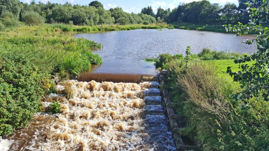 2016_09_05_001 Fischtreppe Sieverstedt viel Wasser nach Regen