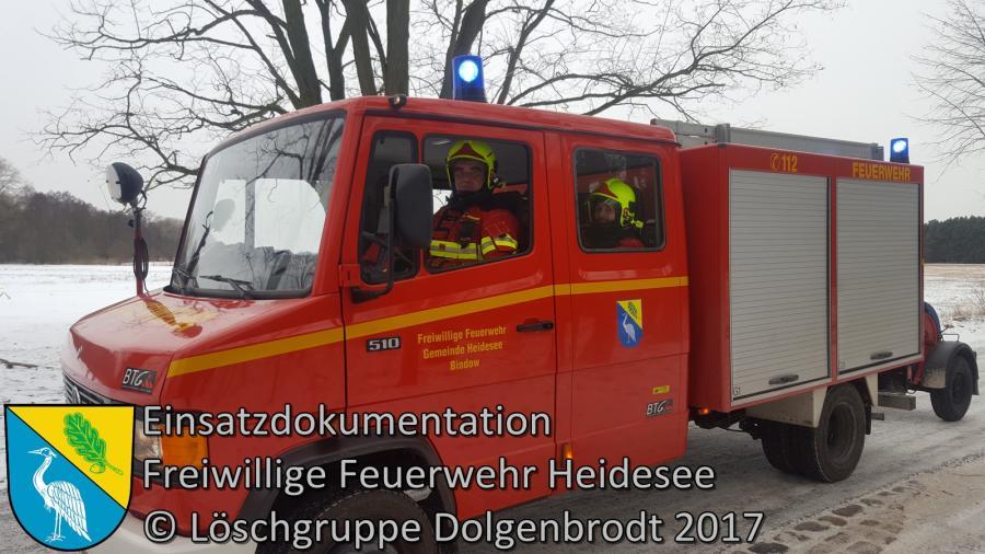 Einsatz 2/2017 | Lagerfeuer im Wald | Dolgenbrodt Bindower Chaussee | 07.01.2017