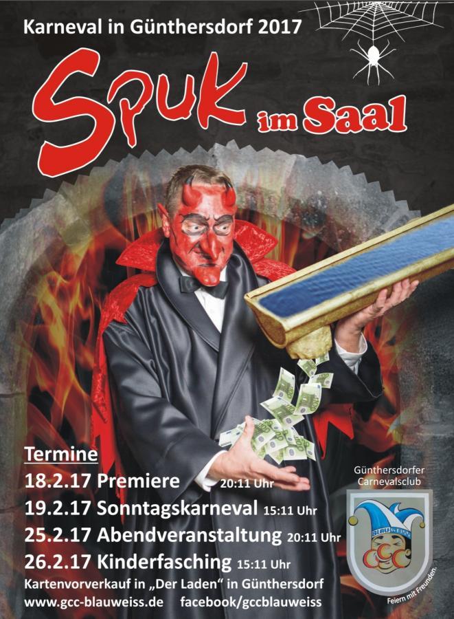 Spuk im Saal - Karneval in Günthersdorf 2017