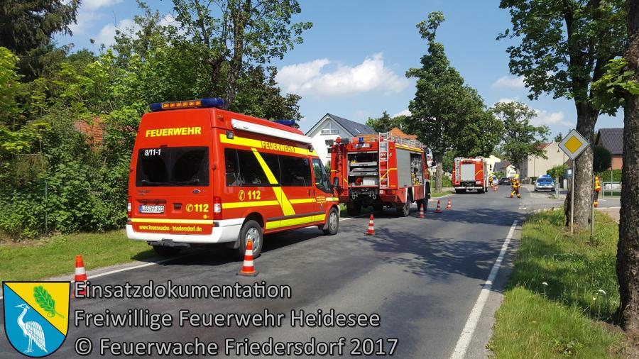 Einsatz 95/2017 | VU 2x PKW | Friedersdorf Berliner Straße X Weg zur Mühle | 07.07.2017