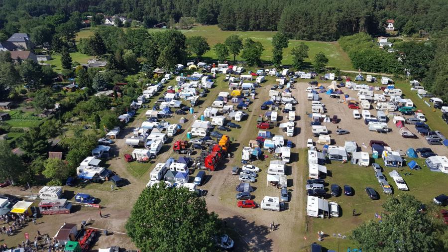 Unser Campingplatz im Jahr 2017