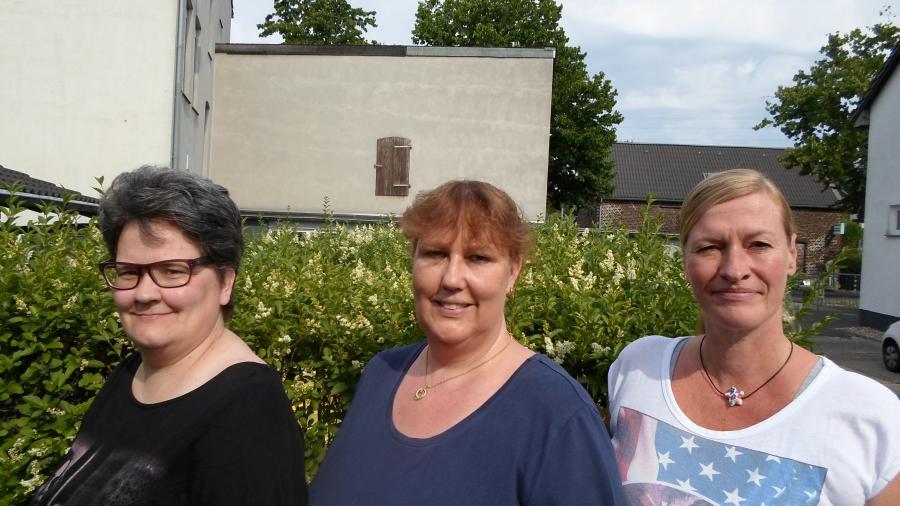 v.l. Monika von Kürten, Sabine Kempken, Tatjana Karategin