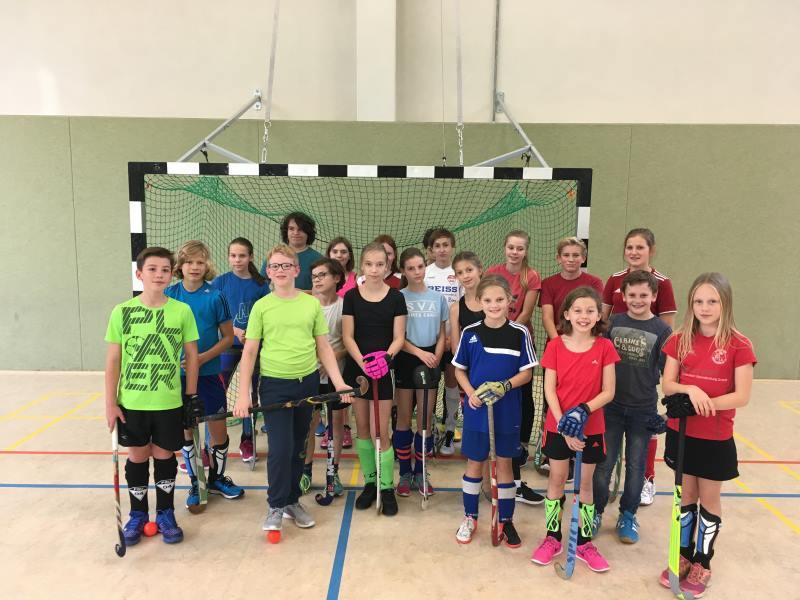 Schulhockey-AG Ev. Gymnasium Hermannswerder, Oktober 2017