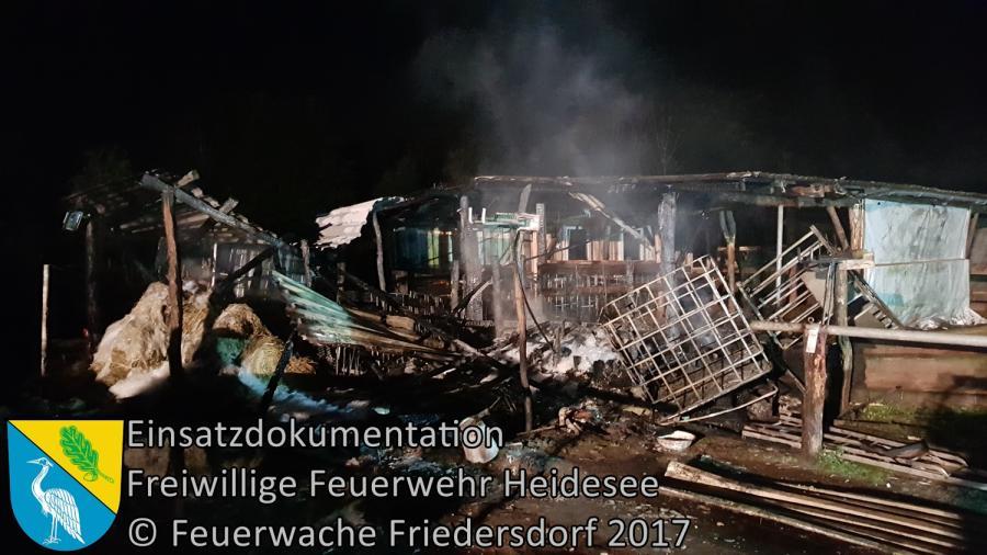 Einsatz 324/2017 | Pferdestall in Vollbrand | Dolgenbrodt An der Dorfaue | 18.11.2017