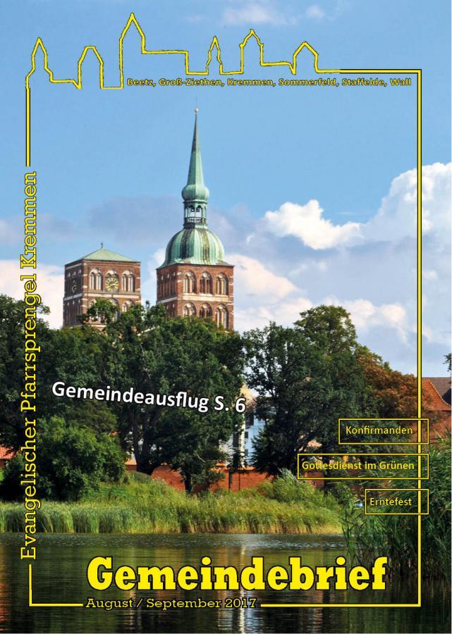 Gemeindebrief August / September 2017