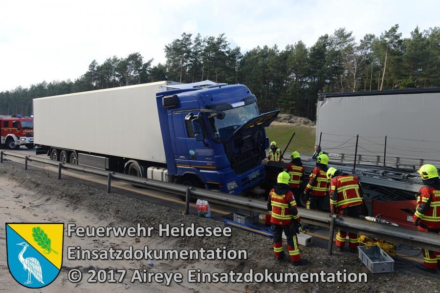 Einsatz 11/2017 | LKW gegen LKW | BAB 12 AS Friedersdorf - AS Storkow 08.03.2017