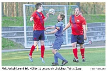 20170328_OVZ_Fussball Lok Männer schaffen ein 3 zu 3 gegen Löbichau Bild