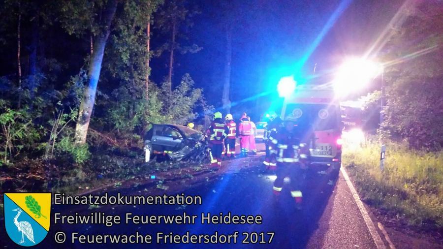 Einsatz 54/2017 | PKW gegen Baum | K 6152 OV Gussow - Bindow | 04.06.2017