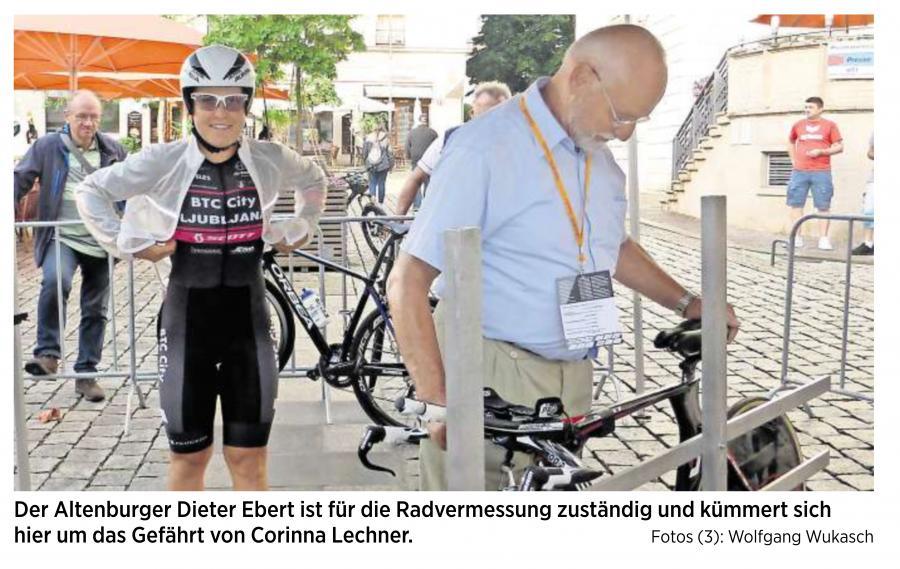 20170725_OVZ_Radsport der Lok Schiedsrichter Dieter Ebert bei der Radvermessung