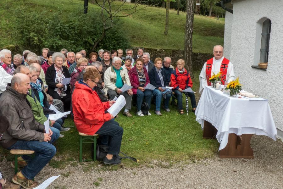 Bergmesse an der Lourdes-Kapelle