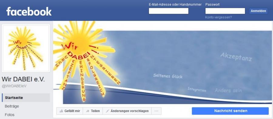 Wir DABEI! e.V. goes Facebook
