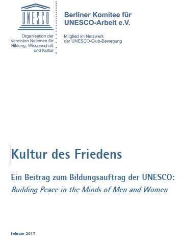 Kultur des Friedens - Titelseite