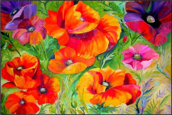 Blumen und Landschaften - Traute Döring