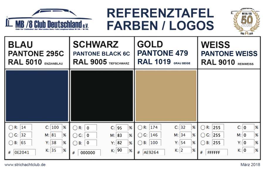 Farbreferenz Logos / März 2018