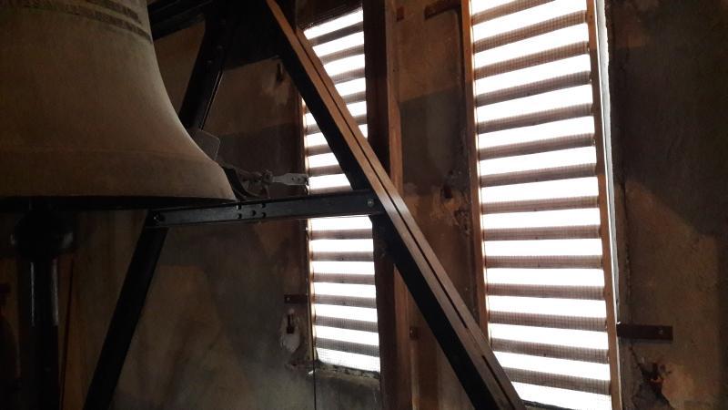 Neue Innenmembranen an den Schallläden im Kirchturm der Petruskirche
