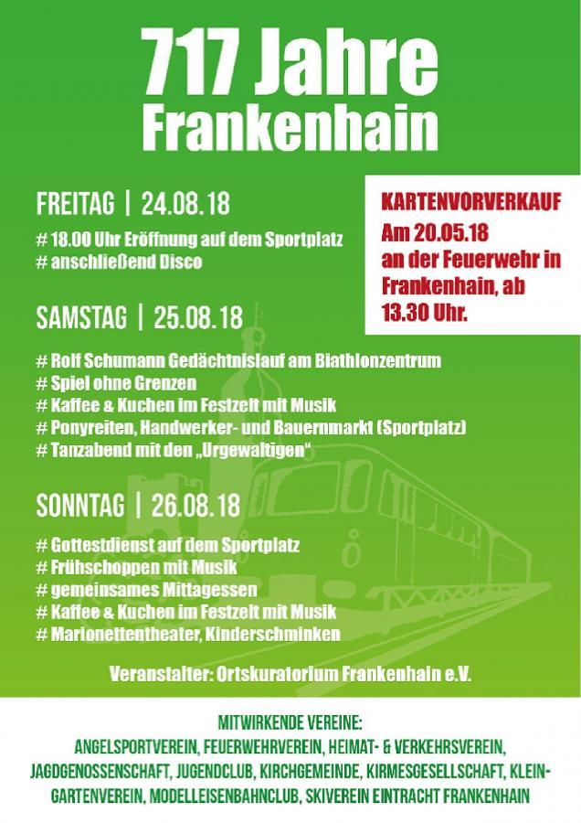 2018-08-24 Dorffest Frankenhain Thüringen
