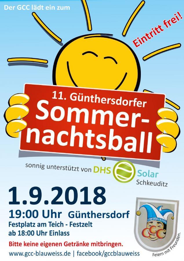 Günthersdorfer Sommernachtsball unterstützt von DHS Solar Schkeuditz