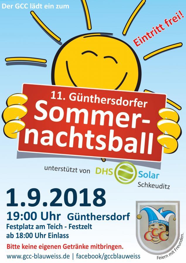 Günthersdorfer Sommernachtsball - sonnig unterstützt von DHS Solar Schkeuditz