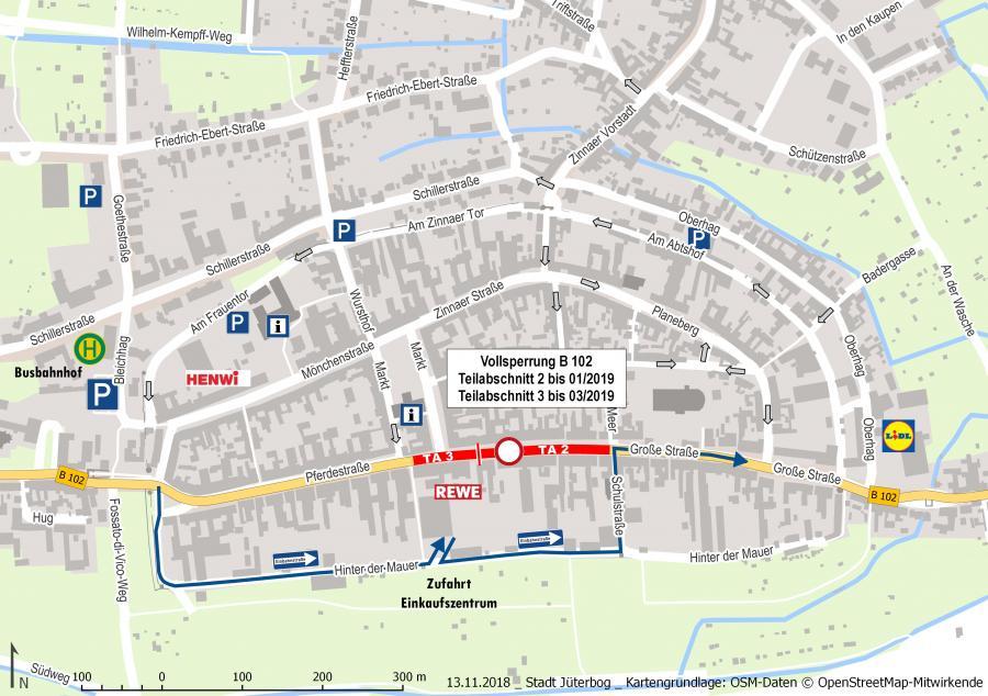B102 Altstadt Baustellenkarte