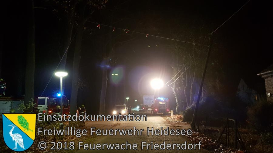Einsatz 154/2018 | Telefonmast droht zu fallen | Blossin Waldweg | 23.11.2018