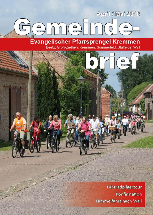 Gemeindebrief April / Mai 2018