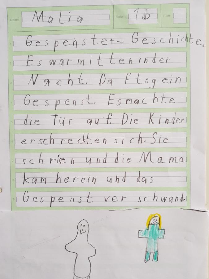 Gespenstergeschichte von Malia, Klasse 1