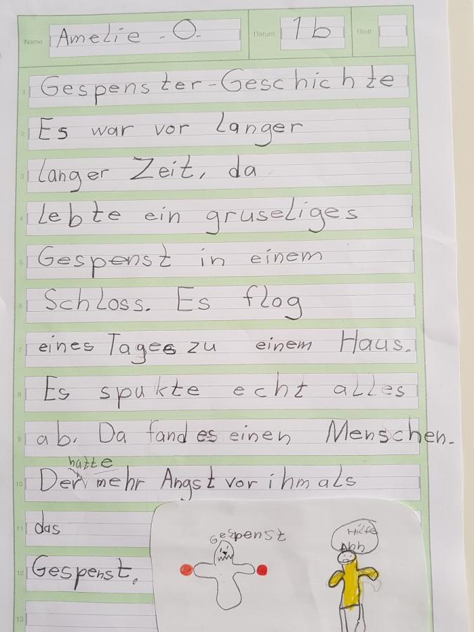 Gespenstergeschichte von Amelie, Klasse 1