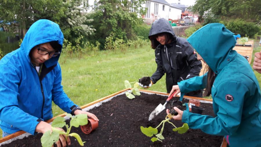 Fleißige Helfer trotz Regenwetter